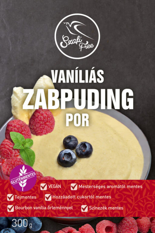 Vegan Vanilla Oatmeal Pudding - Healthy Oatmeal Snack Vanilla Flavour