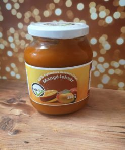 Paleo mango jam in a jar