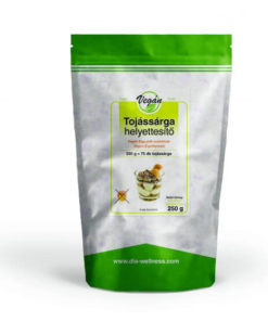 Vegan egg yolk substitute in a bag